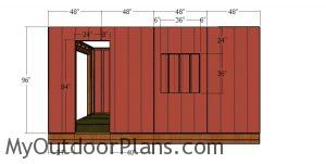 Side wall with window siding sheets