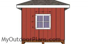 Side window trims - hip roof shed