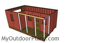 Top rails for shed porch