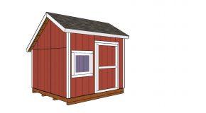 10×10 Saltbox Shed – Free DIY Plans