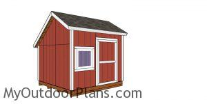 10x10 saltbox shed plans