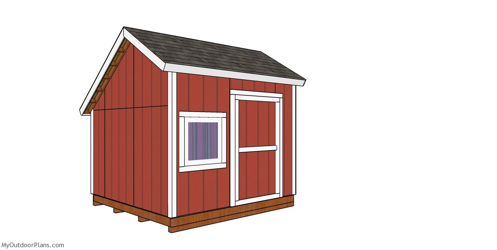10x10 Saltbox Shed - Free DIY Plans