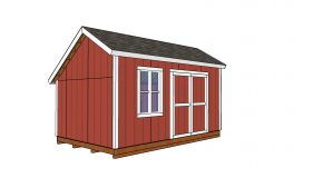 10×16 Saltbox Shed – Free DIY Plans