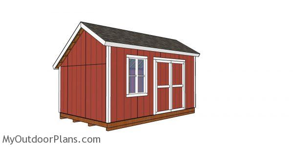 10x16 saltbox shed plans