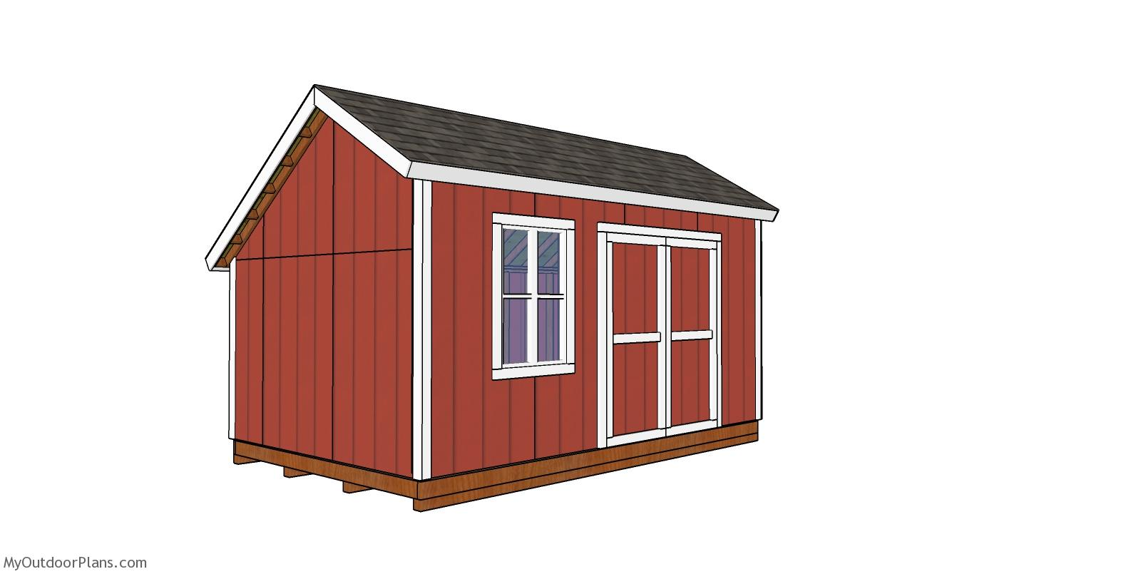 10x16 Saltbox Shed - Free DIY Plans