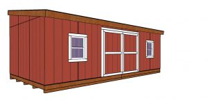 12x24 Lean to shed Plans