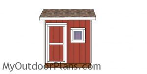 8x12 saltbox shed - front view