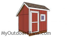 8x12 saltbox shed plans