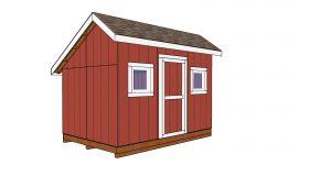 8×12 Saltbox Shed – Free DIY Plans