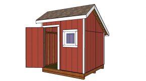 8×8 Saltbox Shed – Free DIY Plans