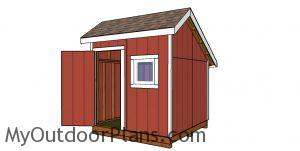 8x12 saltbox shed plans free