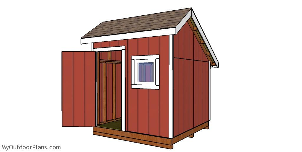 8x8 Saltbox Shed - Free DIY Plans