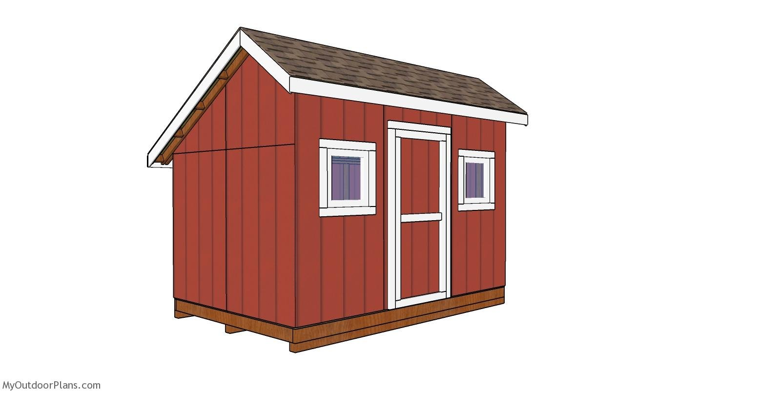 8x12 Saltbox Shed - Free DIY Plans