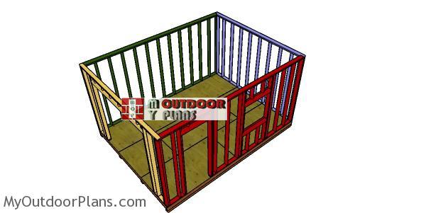 Assembling-the-shed-frame-for-12x16-dormer-shed