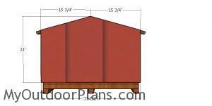 Back wall siding - cat house