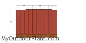Back wall siding sheets - 10x10 shed