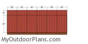 Back wall siding sheets