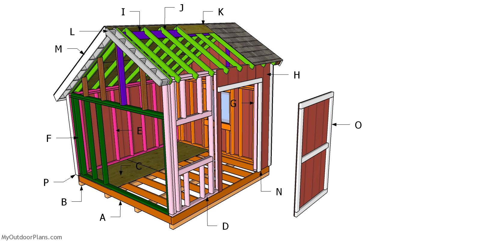 10x10 Saltbox Shed Roof Plans