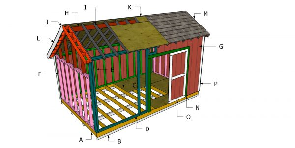Building a 10x16 saltbox shed