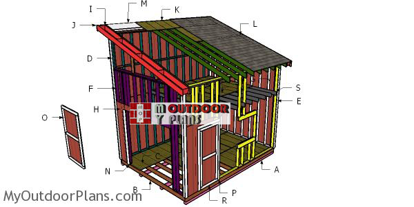 Building-a-12x16-shed-with-lean-to-roof-and-loft
