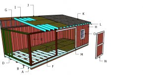 12×24 Lean to Shed Roof Plans