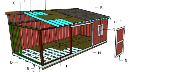 Building a 12x24 lean to shed