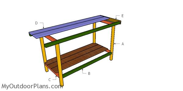 Building a 5 ft workbench