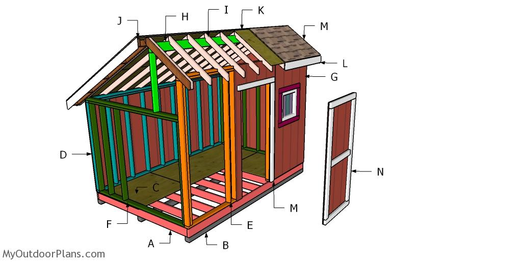 8x12 Saltbox Shed Roof Plans