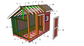 8×8 Saltbox Shed Roof Plans