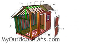 Building a 8x8 saltbox shed