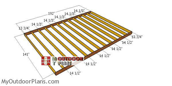 Building-a-floor-frame-for-a-12x16-shed