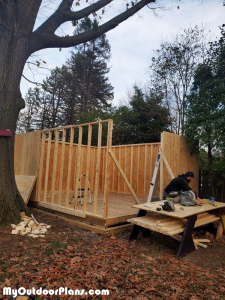 Building-the-frame-for-the-16x20-shed