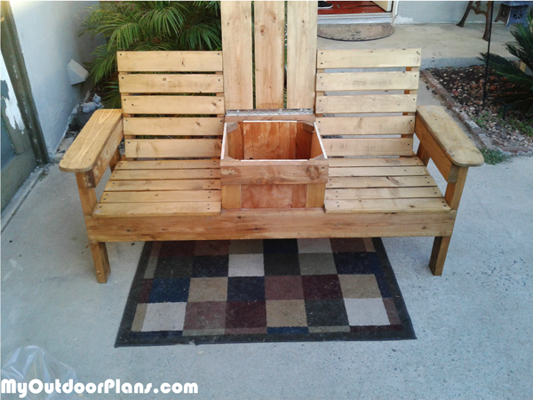 DIY Double Chair Bench with Storage