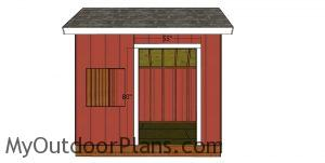 Door jambs - 10x10 saltbox shed