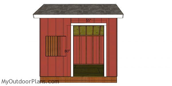 Door jambs - 10x10 saltbox shed