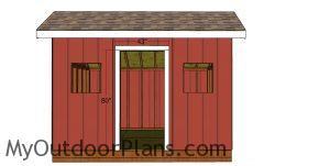 Door jambs - 8x12 saltbox shed