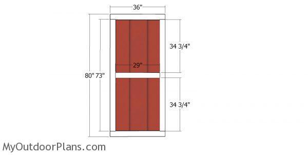 Doors - 8x12 saltbox shed