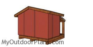 Double cat house with insulation plans - back view