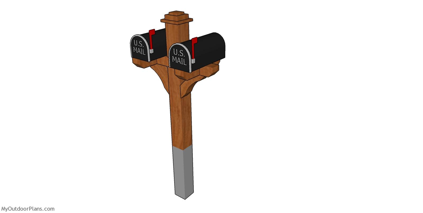 Double Mailbox Post Free Diy Plans Myoutdoorplans Free Woodworking Plans And Projects Diy Shed Wooden Playhouse Pergola Bbq
