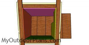Fitting the interior wall panels