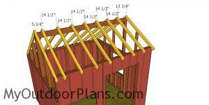 Fitting the rafters - 10x10 saltbox shed