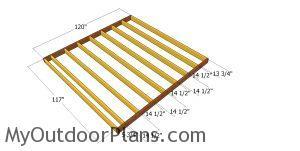 Floor frame - 10x10 shed