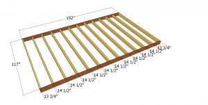 Floor frame - 10x16 shed