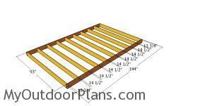 Floor frame - 8x12 shed