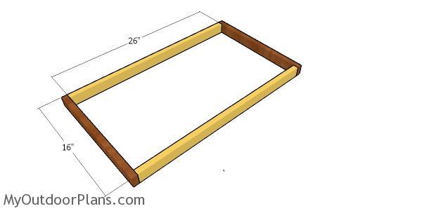 Floor frame for the cat house