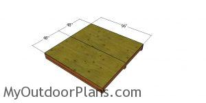 Floor sheets - 8x8 shed