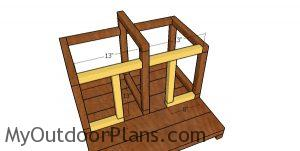 Front frame - double cat house