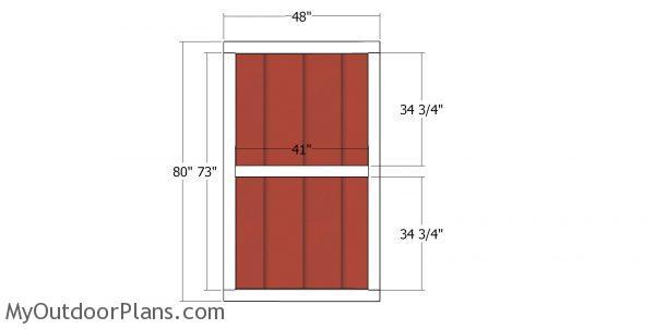 Front shed door