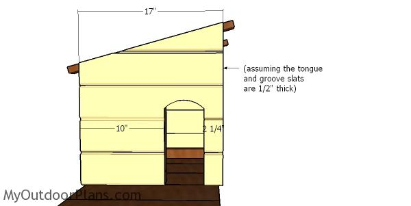 Front slats for the cat house