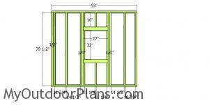 Front wall partition 2